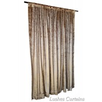 8 ft High Tricot Velvet Curtains w/Rod Pocket Top