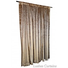 6 ft High Tricot Velvet Curtains w/Rod Pocket Top