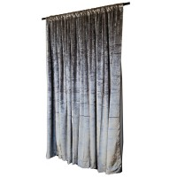 11 ft High Tricot Velvet Curtains w/Rod Pocket Top