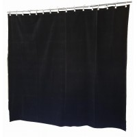 6 ft High Flocked Velvet Curtains w/Small Grommet Eyelet Top