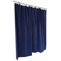 9 ft High Flocked Velvet Curtains w/Small Grommet Eyelet Top