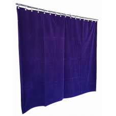 11 ft High Flocked Velvet Curtains w/Small Grommet Eyelet Top