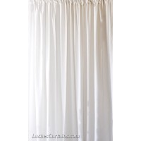 Used White Flocked Velvet Curtain Panels w/Rod Pocket Top