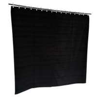 6 ft High Cotton Velvet Curtains With Small Grommet Eyelet Top