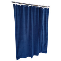 9 ft High Cotton Velvet Curtains With Small Grommet Eyelet Top