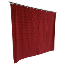 8 ft High Cotton Velvet Curtains With Small Grommet Eyelet Top