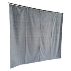 10 ft High Cotton Velvet Curtains With Small Grommet Eyelet Top