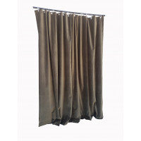 12 ft High Cotton Velvet Curtains With Small Grommet Eyelet Top
