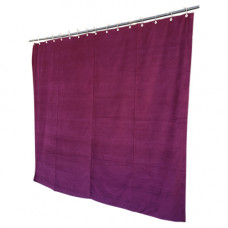 11 ft High Cotton Velvet Curtains With Small Grommet Eyelet Top