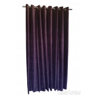 15 ft High Cotton Velvet Curtains With Grommet Eyelet Top