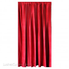 10 ft High Cotton Velvet Curtains w/Rod Pocket Top