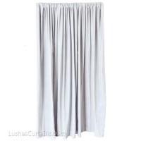 8 ft High Cotton Velvet Curtains w/Rod Pocket Top
