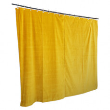 13 ft High Cotton Velvet Curtains With Small Grommet Eyelet Top