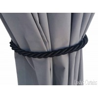 Black Curtain Thick Rope Tie Backs