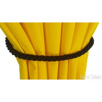 Black Curtain Thin Rope Tie Backs