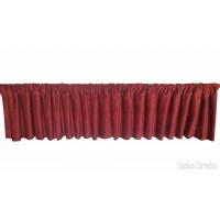 Fire Rated Velvet Rod Pocket Top Window Valance