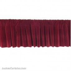 Flocked Velvet Window Valance w/Rod Pocket top