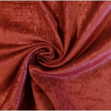 Burgundy Fire Rated Velvet Fabric