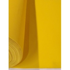 Yellow Flocked Velvet Fabric