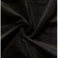 Black Cotton Velvet Fabric