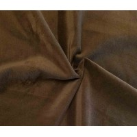 Brown Cotton Velvet Fabric