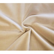 Cream Cotton Velvet Fabric
