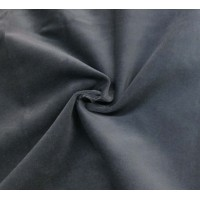 Grey Cotton Velvet Fabric