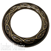 Antique Brass Design #14 Grommet Eyelets Size #12