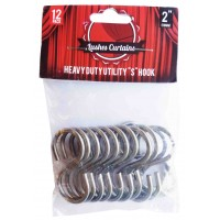 "Pack of 12 - 2"" Heavy Duty Utility S Hooks"