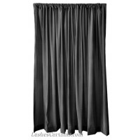 11 ft High Flocking Velvet Curtains w/Rod Pocket Top