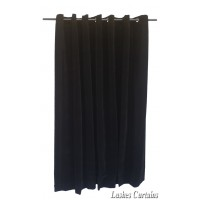6 ft High Flocked Velvet Curtains With Grommet Eyelet Top
