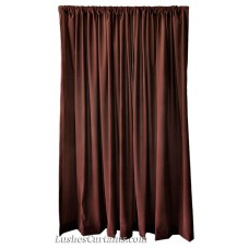 12 ft High Flocking Velvet Curtains w/Rod Pocket Top