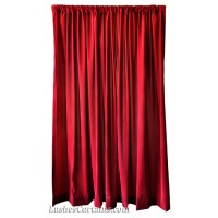 Used Burgundy Flocked Velvet Curtain 5 ft w x 8 ft h