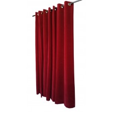 8 ft High Flocked Velvet Curtains With Grommet Eyelet Top