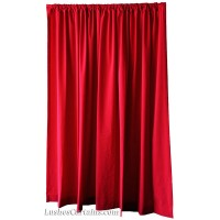 20 ft High Flocked Velvet Curtain Panels w/Rod Pocket Top