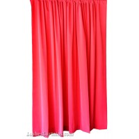 15 ft High Flocking Velvet Curtains w/Rod Pocket Top