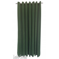12 ft High Flocking Velvet Curtains With Grommet Eyelet Top