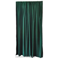 16 ft High Flocking Velvet Curtains w/Rod Pocket Top