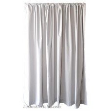 Used Gray Flocked Velvet Curtain 46 in w x 37 in h