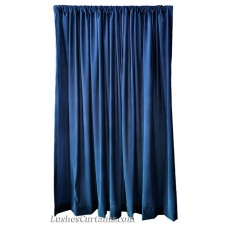 8 ft High Flocked Velvet Curtains w/Rod Pocket Top