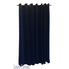 9 ft High Flocked Velvet Curtains With Grommet Eyelet Top