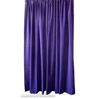Used Purple Flocked Velvet Curtain 50 in w x 37 in h