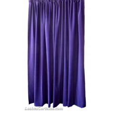 Used Purple Flocked Velvet Curtains 60 inch w x 102 inch h