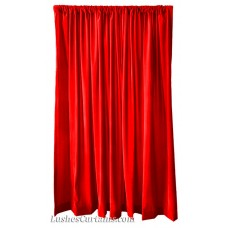 14 ft High Flocking Velvet Curtains w/Rod Pocket Top