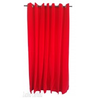 7 ft High Flocked Velvet Curtains With Grommet Eyelet Top