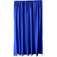 Used Royal Blue Flocked Velvet Curtain 4 ft w x 6 ft h