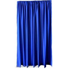 6 ft High Flocked Velvet Curtains w/Rod Pocket Top