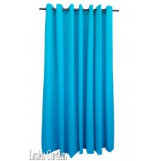 15 ft High Flocking Velvet Curtains With Grommet Eyelet Top