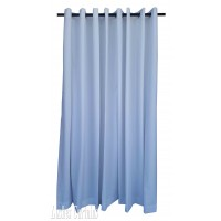 14 ft High Flocking Velvet Curtains With Grommet Eyelet Top