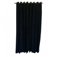 6 ft High Cotton Velvet Curtains With Grommet Eyelet Top